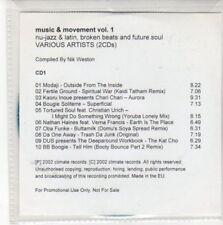 (CC765) Music & Movement Vol 1, 10 tracks various artists - DJ CD