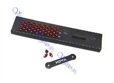 NEW MOWA SKIDPROOF ANTI-SLIP PEDAL SCREWS BOLTS PINS, 38pcs w/TOOL, RED