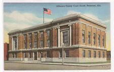 Court House Bessemer Alabama linen postcard