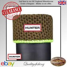 CLEARANCE: Hunter Socks Neon Trim Khaki/Neon Green Large (UK6-8)