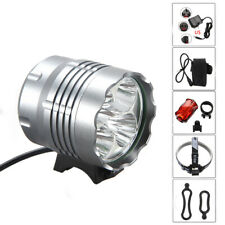 MTB LED Light Bike Ciclismo Luz 20000LM Brillo frontal Charged baterías Paquete