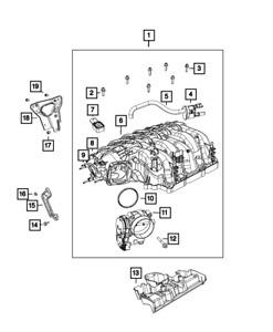 Genuine Mopar Throttle Body Gasket 5281822AA