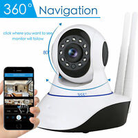 IP Wifi Camera HD 1080P Dual Antenna Wireless Indoor P2P Security Night Vision