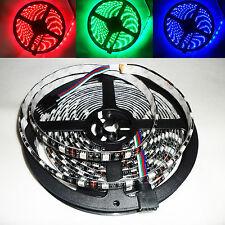 5 Meter 12V RGB LED Strip Streifen 5050 IP65 Wasserdicht 300 LEDs 5M Schwarz PCB