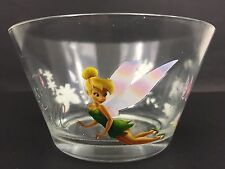 Disney Tinker Bell Glass Bowl Set of 2 Clear Bowls Tinker Bell in Neverland 18oz