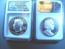 2014 B.V.Island $10John F.Kennedy 2OZ. Ultra High Relief - PF70_ ULTRA CAMEO NGC