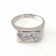 Cubic Zirconia Band Cushion Simulated Costume Rings