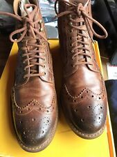 Clarks Mens Montacute Lord Tan Brogue Leather Boots UK 10 G