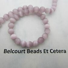 65 Cat's Eye Round Beads Dusty Rose Size: 6mm Ready to Use in Any Project!