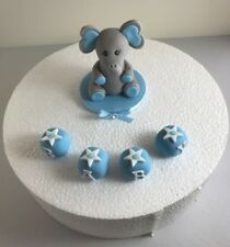 Handmade Edible Fondant elephant Model PLUS NAME cake Toppers Girls  Birthday