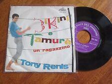 """TONY RENIS Bikini e Tamurè / Un Ragazzino 7"""" 45 RPM ITALY MOGOL DAN MASTERS"""