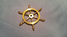 "4"" Solid Brass Decorative Ship Wheel Paperweight"