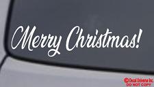 MERRY CHRISTMAS! Vinyl Decal Sticker Car Window Wall Bumper Holiday Jesus Love