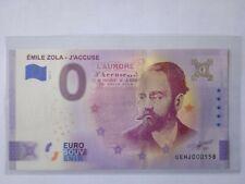 BILLET EURO SOUVENIR 2021-4 ÉMILE ZOLA J'ACCUSE