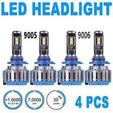 2Pair Headlight Light Bulbs LED High Beam & Low Beam 6000K White 9005 9006