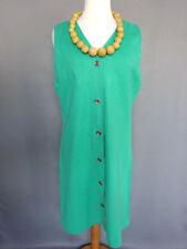 Belle Robe tunique longue verte Vintage années 70/80 Taille FR44 US12 UK16 EUR42