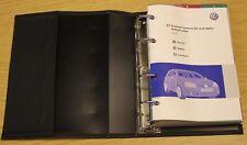 VW GOLF  HANDBOOK OWNERS MANUAL HANDBOOK WALLET RCD 300 2003-2008 PACK A-554