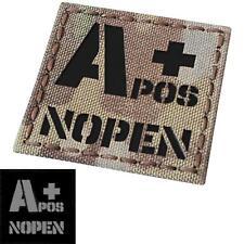 IR No Penicillin A+ APOS NOPEN multicam infrared Blood Type fastener patch
