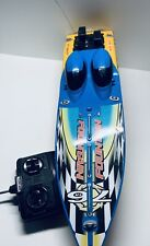 2001 New Bright 23 inch Rc Remote Control Fountain Speed Boat Rare No Charger