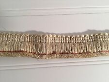 2 3/4 Yard Beige Tan Variegated Brush Fringe Cotton 20442