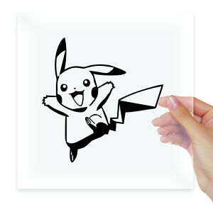 Pikachu pokemon Vinyl Stickers Decals Laptop Macbook Moto Car Auto Tablet