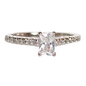 VVS1 Klarheit 1,25 Karat Schick Form Solitär Damen Ring In 925 Sterling Silber