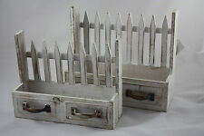 SET of 2 PLANTER BOX POT Shabby Chic Vintage Retro WOODEN GARDEN TRAY 4756884