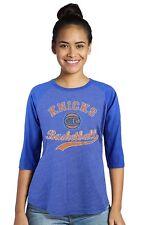 NBA New York Knicks Womens Carmelo ANTHONY #7 3/4 Sleeve Raglan T-Shirt 2XL