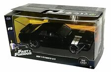 JADA Fast And Furious 8 Dom's Plymouth GTX 1:32 Black Diecast Car