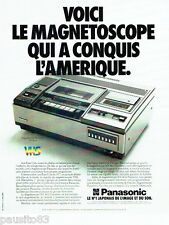PUBLICITE ADVERTISING 096  1980  Panasonic  magnetoscope VHS  NV 8610
