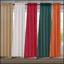 "2Pc Set Versatile Faux Silk Window Curtain Treatment Rod Pocket Panels (Mr2)95"""