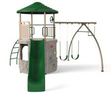 Lifetime Deluxe Swing Slide Adventure Outdoor Tower Playset Free Shipping Green
