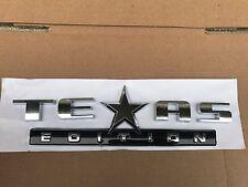 NEW TEXAS EDITION CHROME EMBLEM FORD F-150 F-250 F-350 FENDER I TAILGATE LOGO