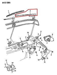 NEW MOPAR GENUINE OEM FRONT WINDSHIELD WIPER ARM ASSEMBLY 1 PIECE 04389437