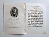 1817 Ortolani, Ritratto/Bio di Diodoro Siculo, Storico, Argirio, Sicilia - Roma