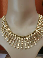 SUPERBE COLLIER DRAPERIE CLEOPATRE  OR 18 K  - 750 /1000  -   41 CM