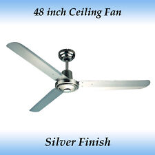 Sparky 48 inch (1200mm) 3 Blade Brushed Chrome Stainless Steel Ceiling Fan