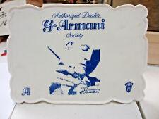 "Giuseppe Armani ""Authorized Dealer Society Plaque"" Florence Italy Kh"