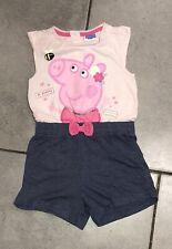 Debenhams Baby Girls Playsuit PEPPA PIG 18-24 Months Vgc