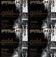 PYRAMID GOLD Violin Geige Saiten SATZ - Violin Strings SET