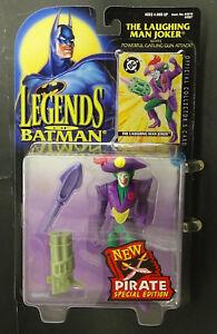 Batman Joker Legends of, LAUGHING MAN PIRATE Kenner Mint Figure N/Mint Card '95