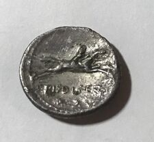 Ancient Roman Empire, Piso Frugi, AR Denarius. 90 BC. Apollo Horse Racing