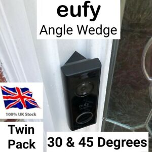 Eufy Angle Mount 30 & 45 Degree Wedges for Battery Video Doorbells T8210