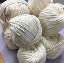 OFF WHITE Macrame 100% Cotton Rope - 3-4mm cord planthanger/wallart/macrame/loom