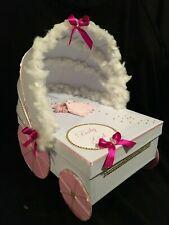 "Baby Stroller box, Baby shower Card box, Birthday Gift Box, Centerpiece,40cm/16"""