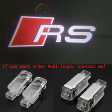 2x Laser LED Logo Door Lamp Puddle Courtesy Projector Shadow Lights For AUDI RS