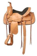 13 Inch Youth Western Roper Saddle - Frisco - Light Oil Leather - Suede Seat