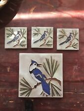 MCKUSICK pottery tile Eastern Bluejay
