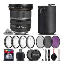 Canon EF-S 10-22mm f/3.5-4.5 USM Lens + 4PC Macro Kit + UV, CPL, FLD Filter Kit