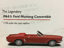 The Legendary Ford Mustang Convertible 1964 1/2 1:18 Precision Collection 100